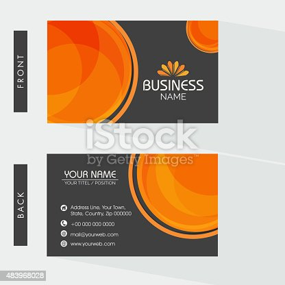 Stylish business card design for company stock vector art more stylish business card design for company stock vector art more images of 2015 483968028 istock reheart Choice Image