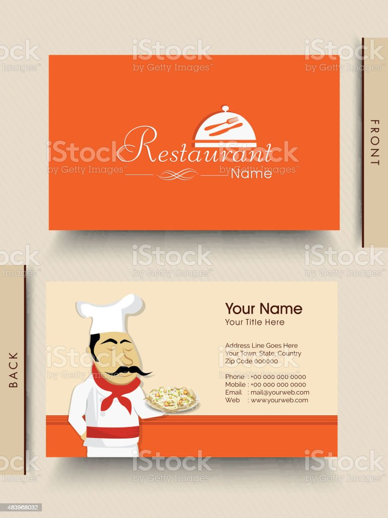 Stylish Business Card For Restaurant Stock Vector Art & More ...