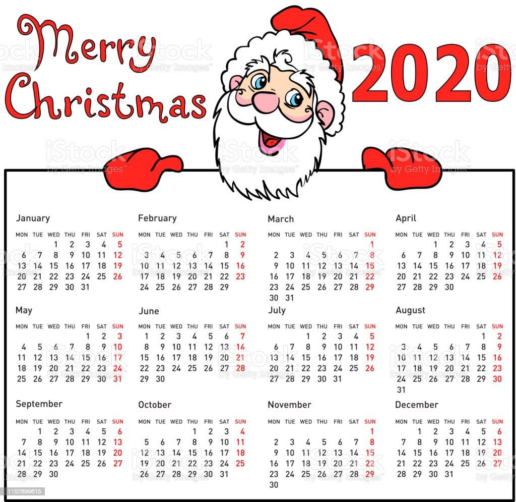 Calendario Moda 2020.Vetores De Calendario A Moda Withmuscular Papai Noel Para