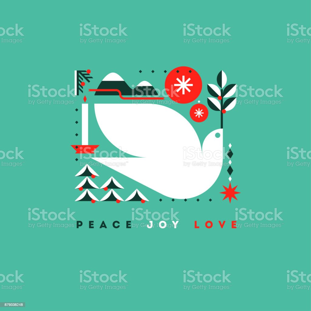 휴일 인사와 크리스마스의 상징 세련 된 카드 - 로열티 프리 겨울 벡터 아트