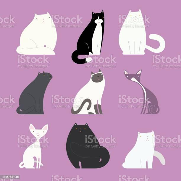 Stylish cat set with different feline bodies vector id165741646?b=1&k=6&m=165741646&s=612x612&h=4l3lfkbduz xevri1zud6mixo6odusbqmbupjo2oh9e=