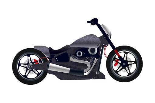 Stylish chopper bike