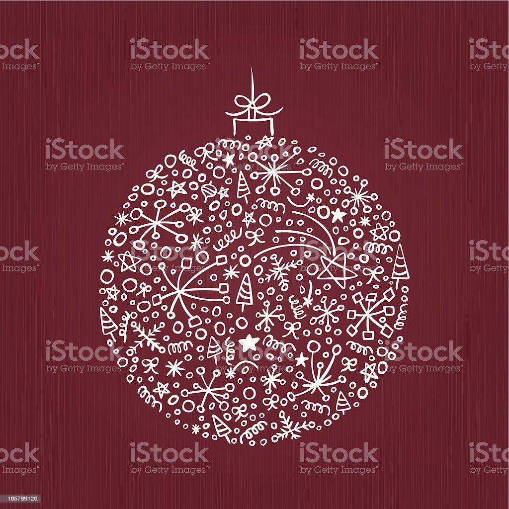 Stylish Christmas Decoration royalty-free stock vector art