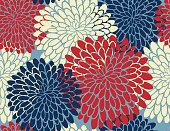 Stylish Chrysanthemum Seamless pattern in bright colors.