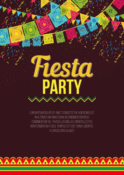 ilustrações, clipart, desenhos animados e ícones de cartaz colorido elegante, ligando para fiesta - carnaval