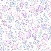 Stylish doodle gem crystals.