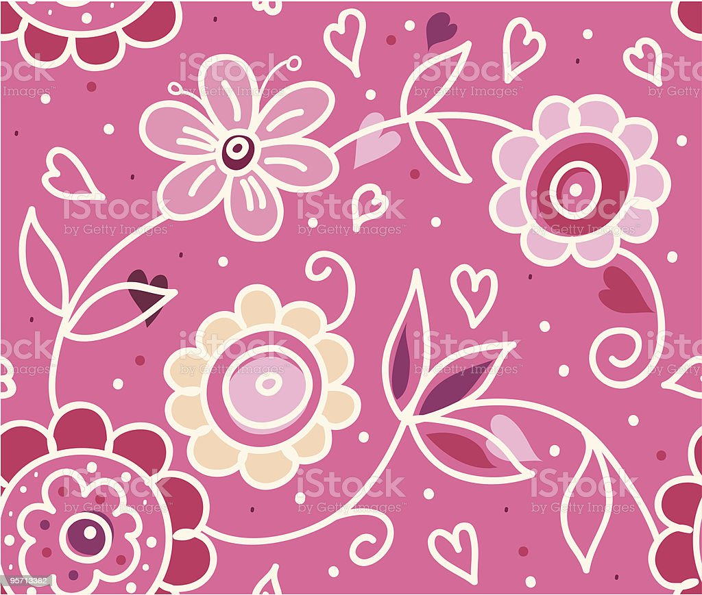 Stylish floral Valentine's Day pattern royalty-free stylish floral valentines day pattern stock vector art & more images of abstract