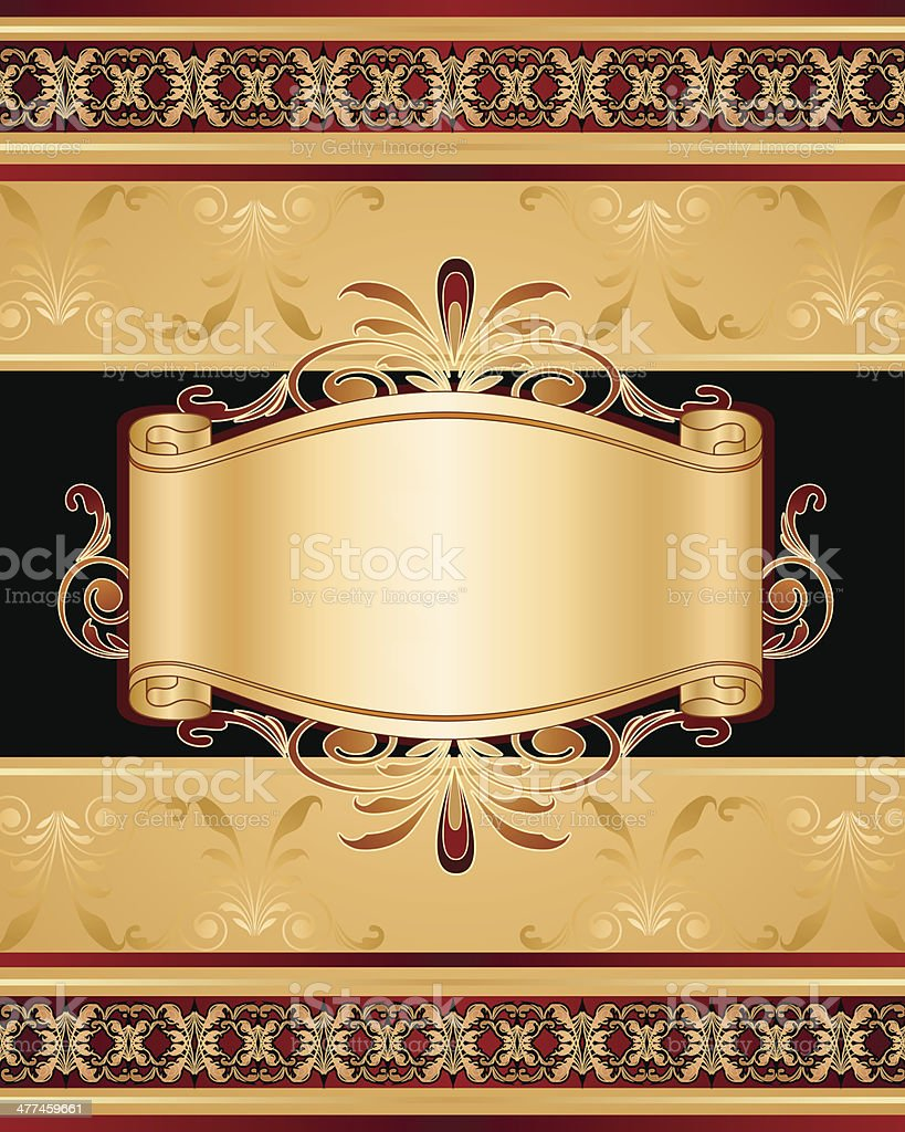 Stylish frame and banner vector art illustration