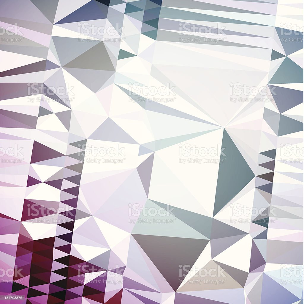 Stylish Geometric Futuristic Glitch Art Retro Polygon Abstract Vector Background royalty-free stock vector art