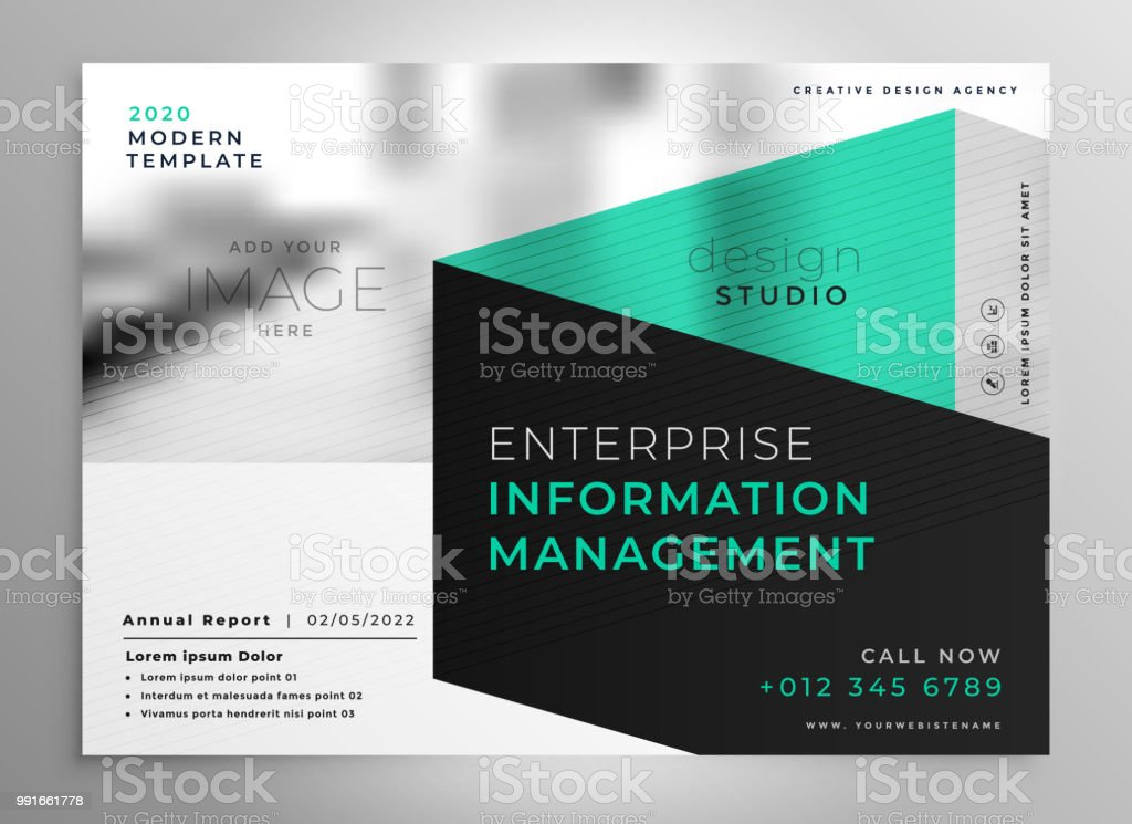 Stylish Geometric Professional Brochure Template Stock Vector Art
