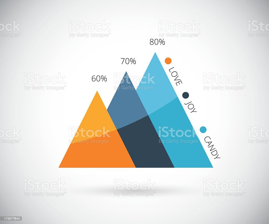 Stilvolle Infografik Grafik, Vektor-eps10 – Vektorgrafik