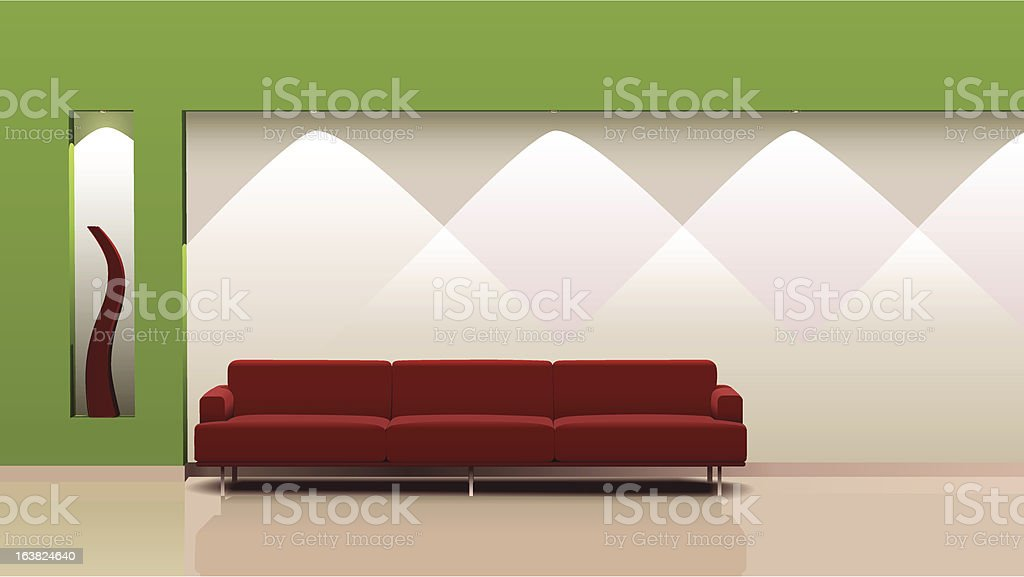 Stylish interior design. This vector royalty-free stock vector art