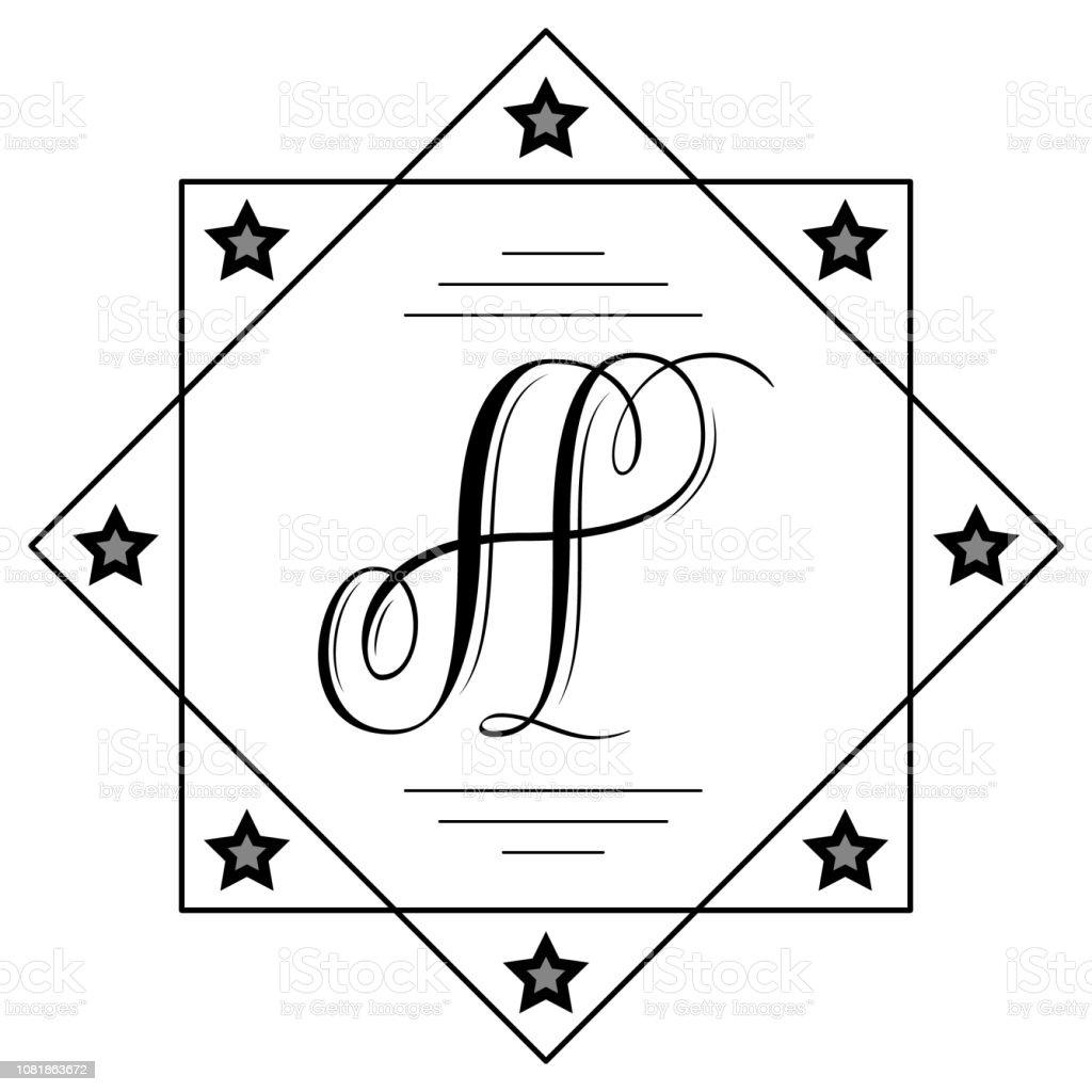 Stylish letter A emblem design vector art illustration