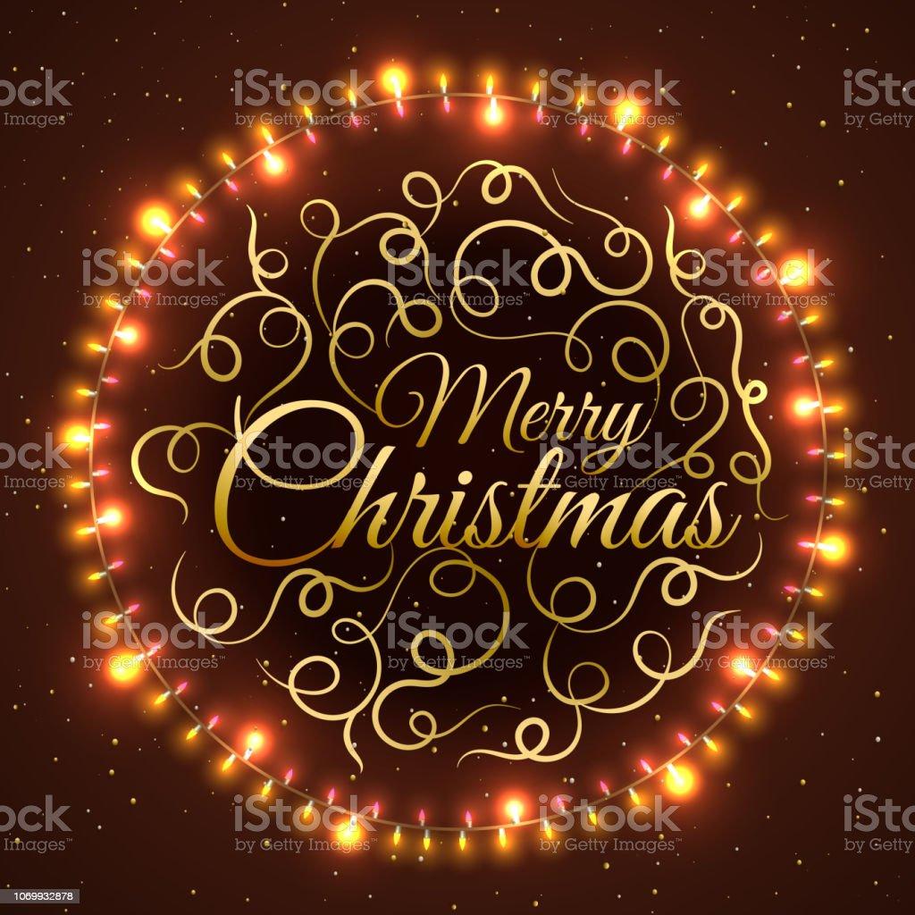 Schriftzug Frohe Weihnachten Beleuchtet.Stilvolle Schriftzug Frohe Weihnachten In Kreisformigen