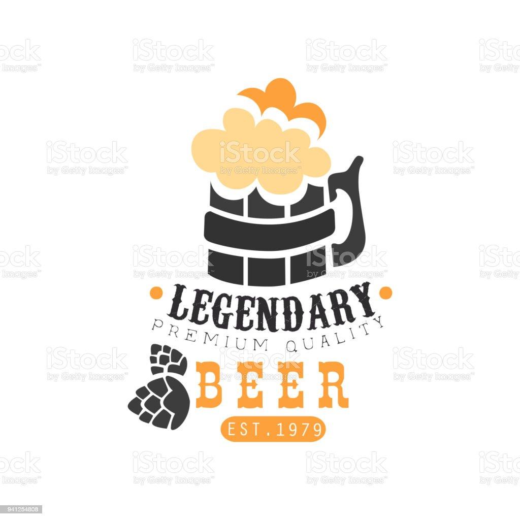 Stilvolle Logodesign Mit Krug Legendäre Bier Mit Schaum ...