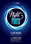 Stylish night cub poster/flyer on colorful scalable backgrounds.  Vector illustration. .eps10Stylish night cub poster/flyer on colorful scalable backgrounds.  Vector illustration. .eps10