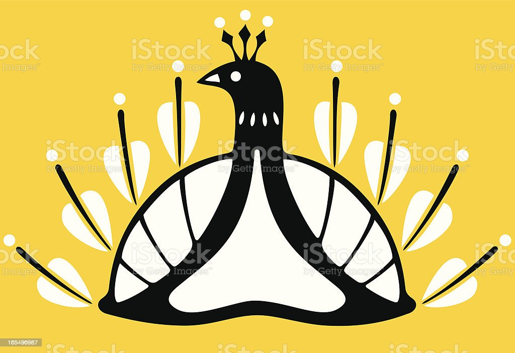 Stylish Peacock Icon Design royalty-free stylish peacock icon design stock vector art & more images of abstract