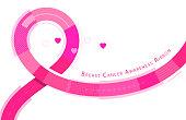 breast cancer awareness symbol pink ribbon flowing
