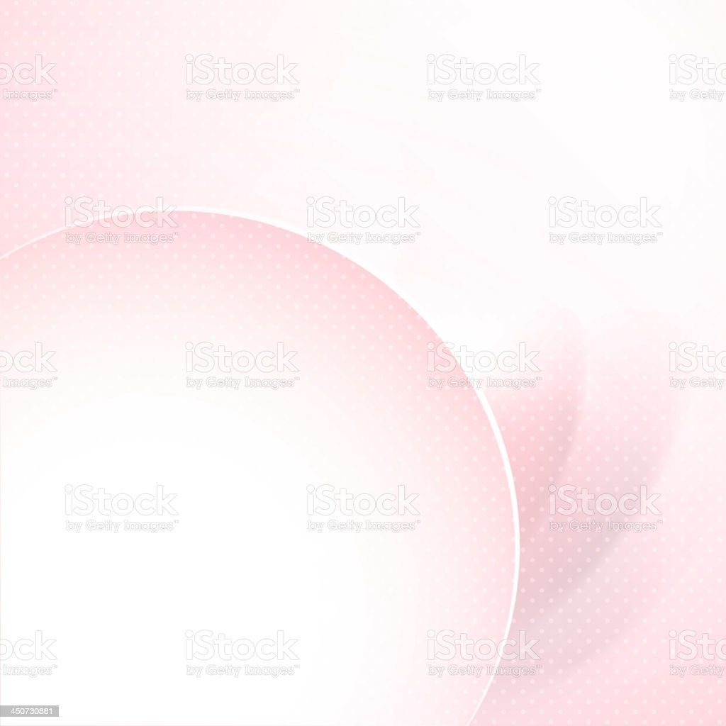 Stylish pink vector background with part of round frame. vector art illustration
