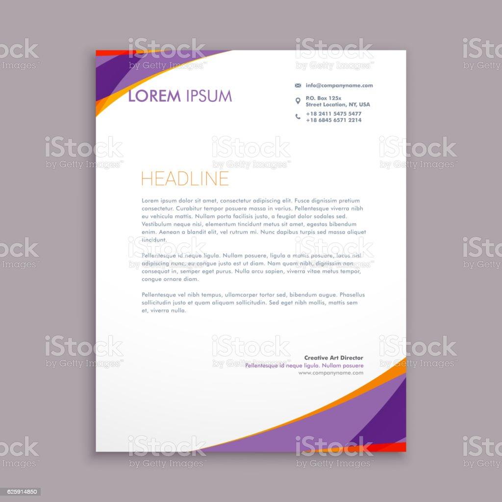Stylish purple wave letterhead template vector design illustrat stylish purple wave letterhead template vector design illustrat royalty free stylish purple wave letterhead template spiritdancerdesigns Gallery