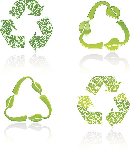 stylish recycle icons - byteandpixel stock illustrations