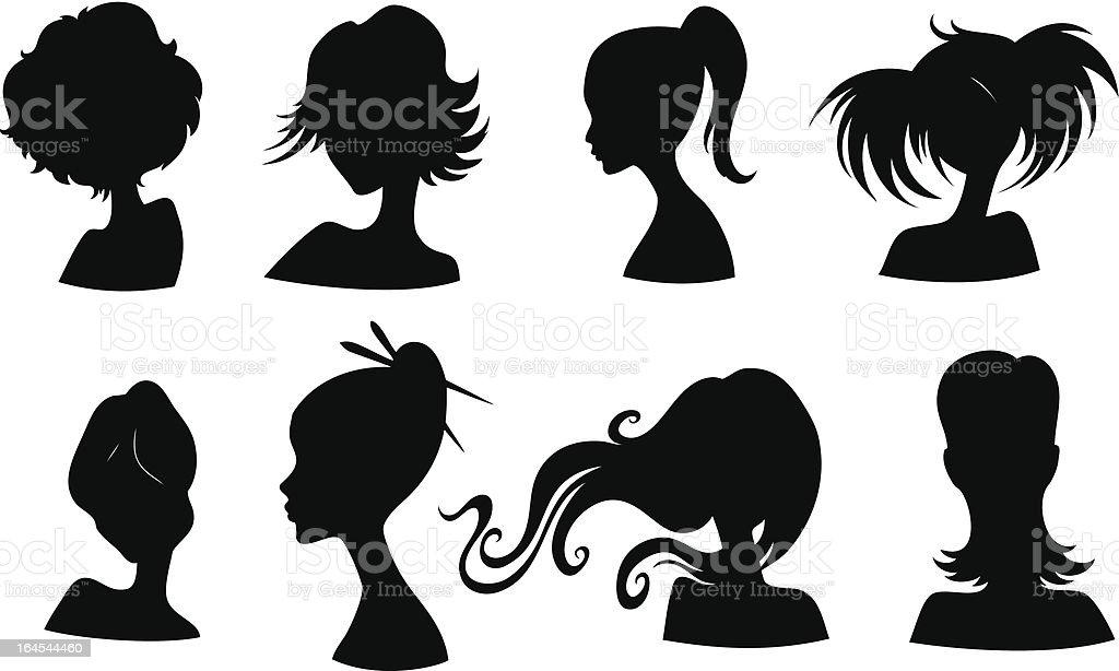 Stylish silhouette royalty-free stock vector art