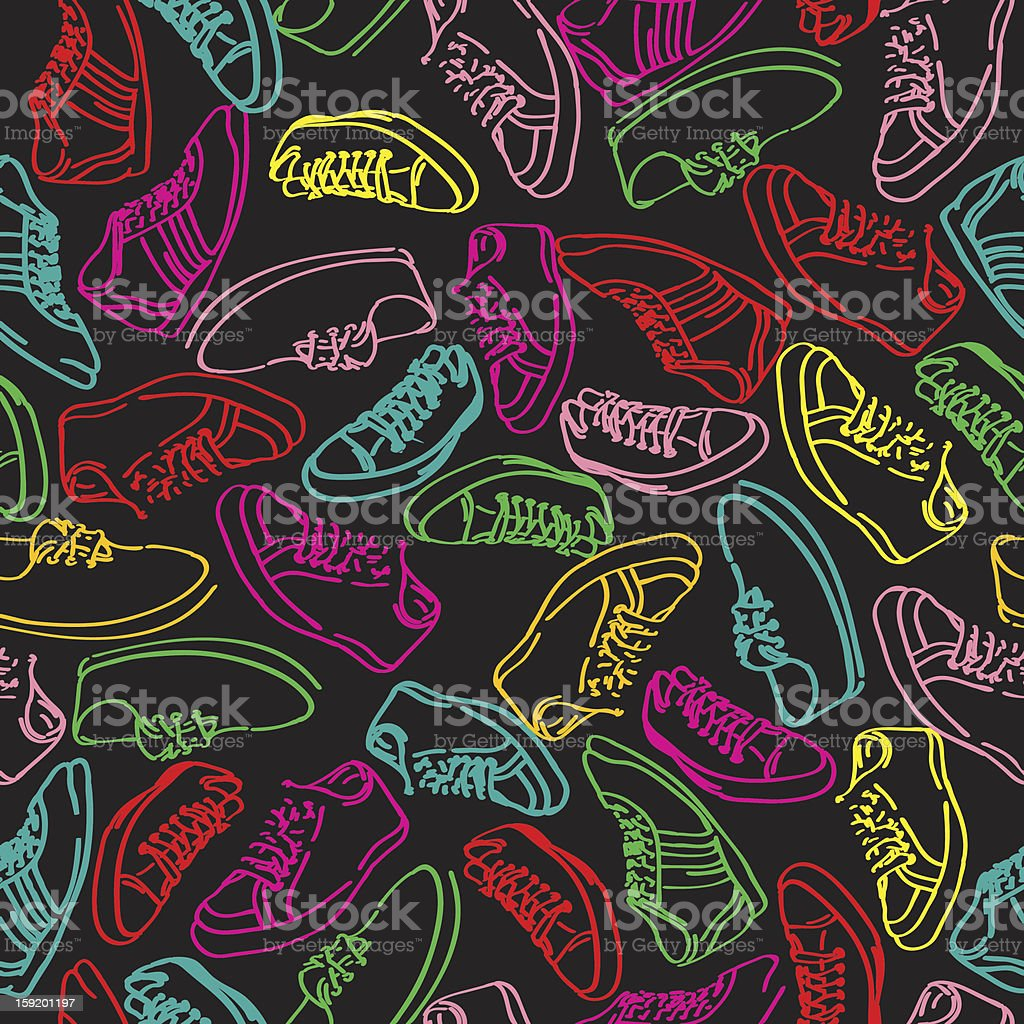 Stylish sneakers pattern royalty-free stylish sneakers pattern stock vector art & more images of backgrounds