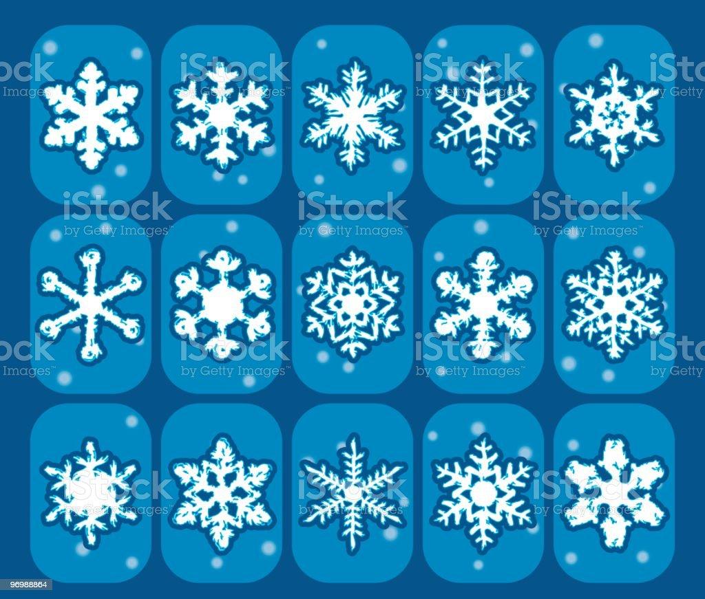 Stylish Snowflake Part 1 royalty-free stock vector art