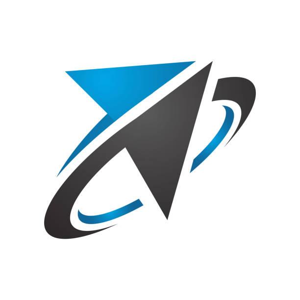 stockillustraties, clipart, cartoons en iconen met stijlvolle sportieve abstracte pijl logo ontwerp vector pictogram sjabloon - beweging