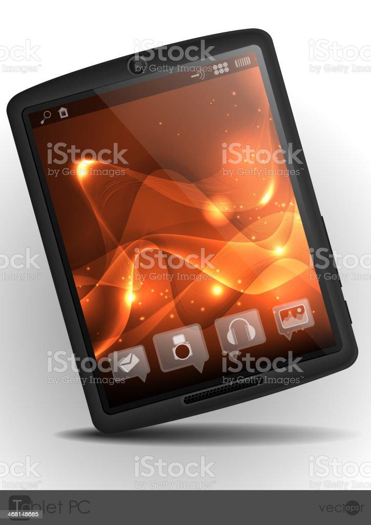 Stylish Tablet Computer. royalty-free stock vector art