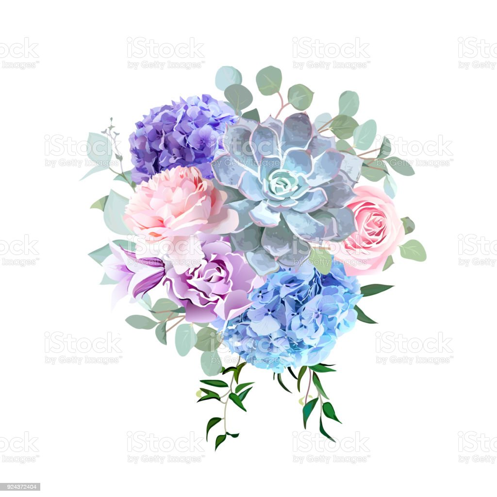 スタイリッシュなバイオレット色とピンクの花のベクトルのデザイン ブーケ ベクターアートイラスト