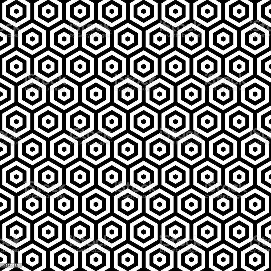 Stylish wallpaper background design with hexagonal shapes vector art illustration