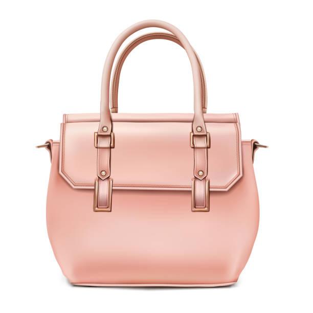 modebewusste frauen beige handtasche - lederranzen stock-grafiken, -clipart, -cartoons und -symbole