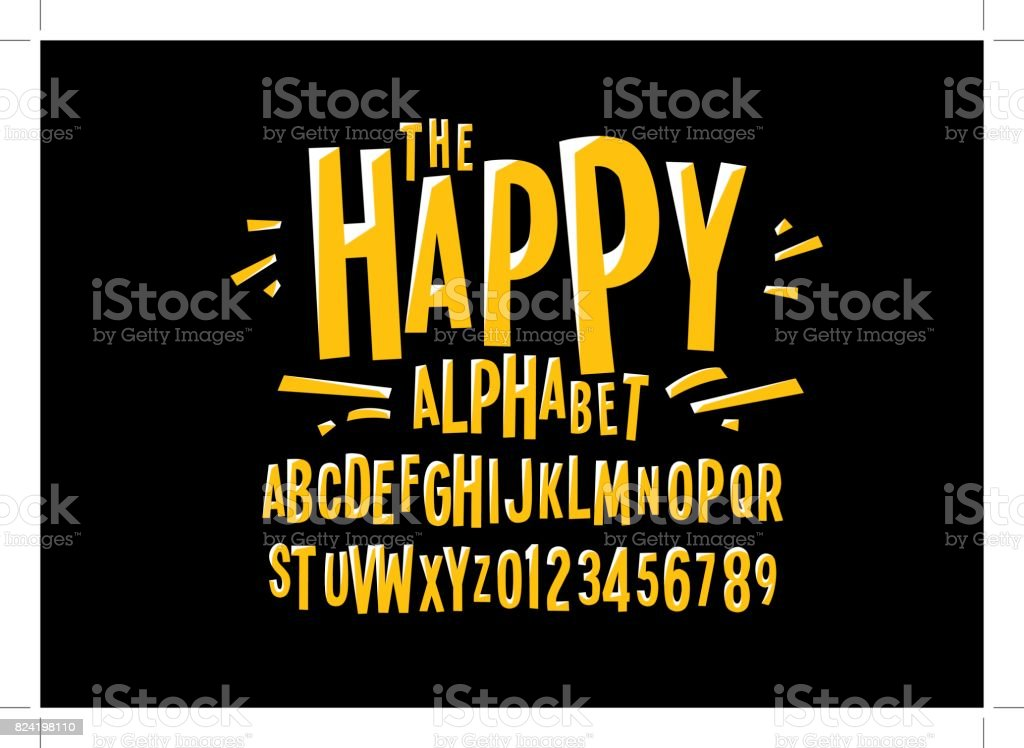 Stylized alphabet vector art illustration