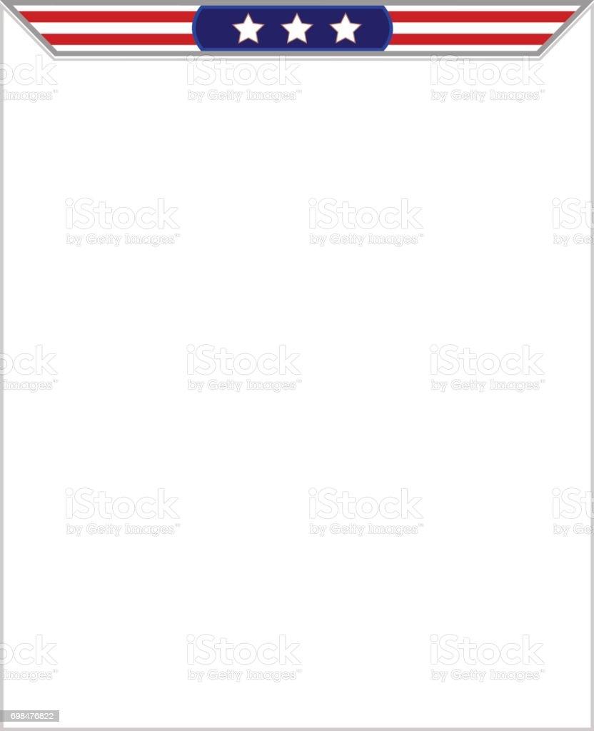 Stilisierte Amerikanische Flagge Rahmen Für Prospekte Broschüren ...