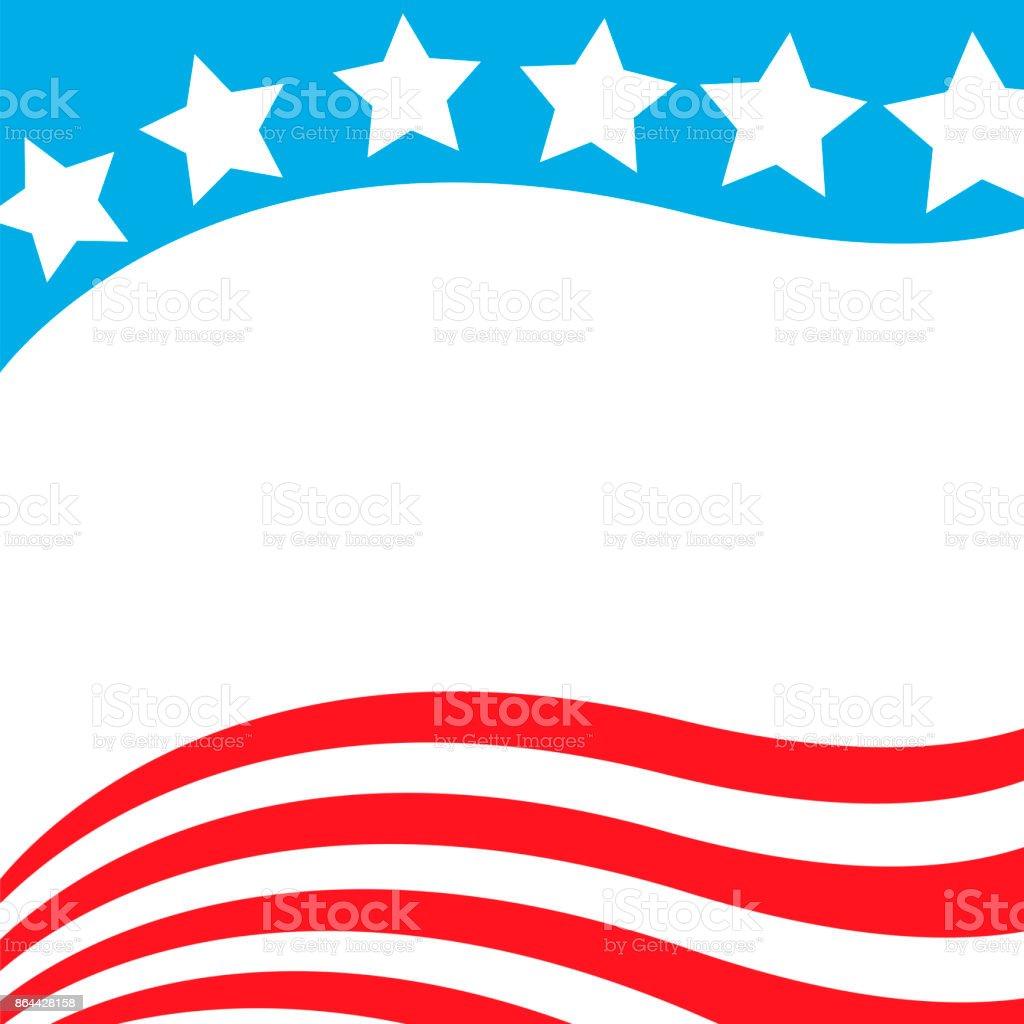 Stilisierte Amerikanische Flagge Rahmen Stock Vektor Art und mehr ...