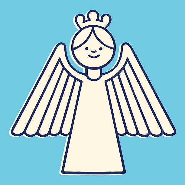 stilisierte angel - schutzengel stock-grafiken, -clipart, -cartoons und -symbole