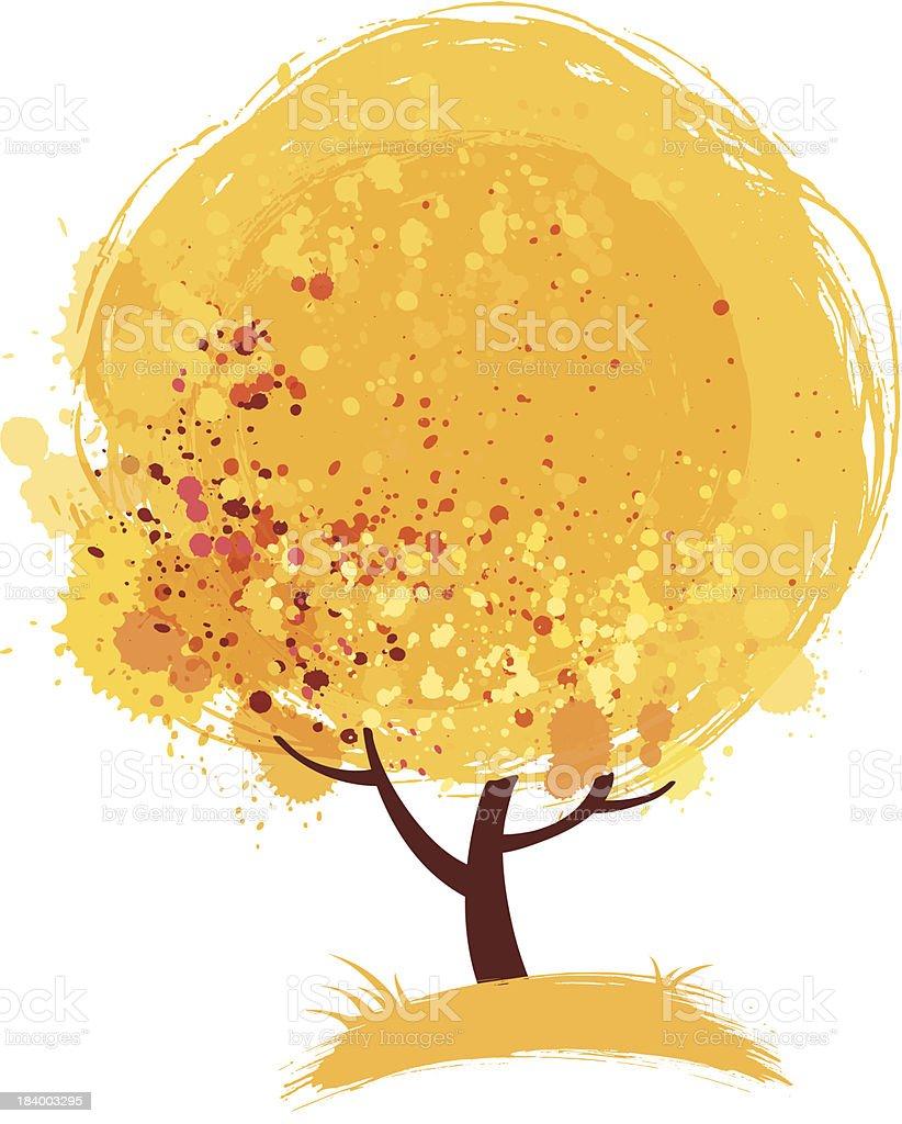 Stylized autumn tree royalty-free stock vector art