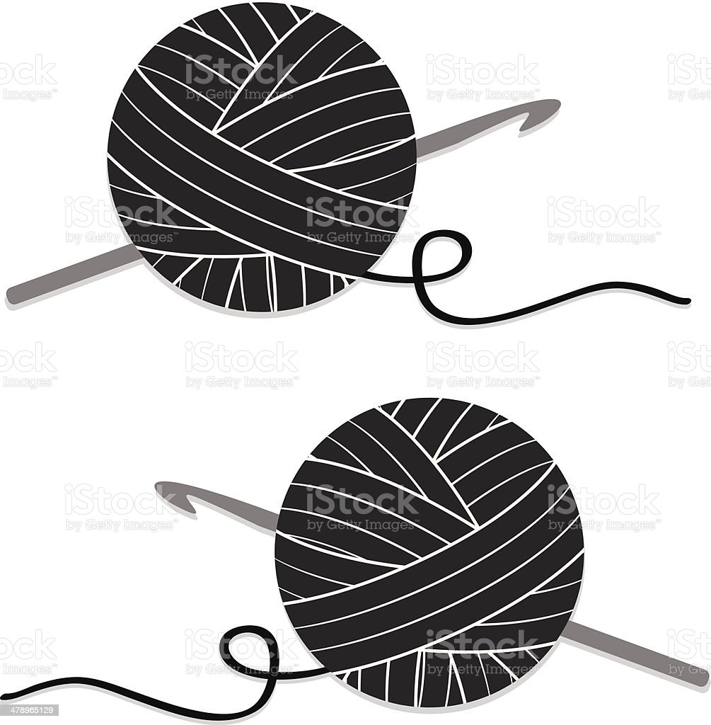 royalty free crochet hook clip art vector images illustrations rh istockphoto com Crochet Border Clip Art free clipart crochet hook
