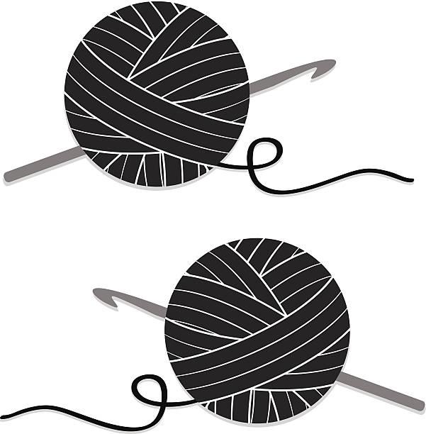 royalty free yarn ball needle clip art vector images