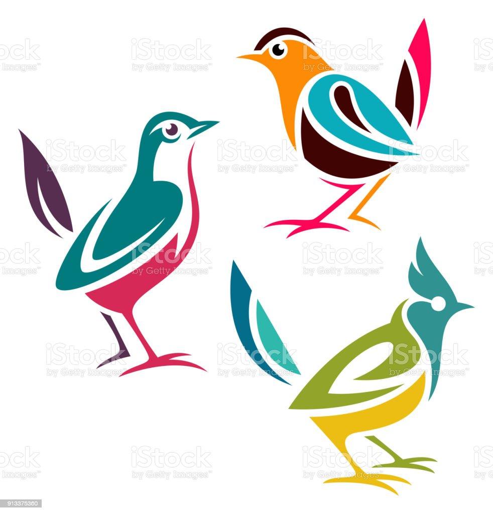 Ilustración de Estilizadas Y Aves y más banco de imágenes de Animal ...