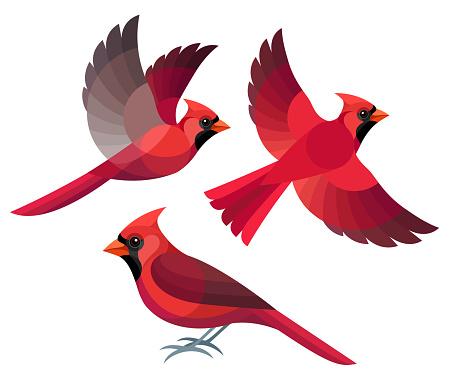 Stylized Birds Stock Illustration - Download Image Now ...