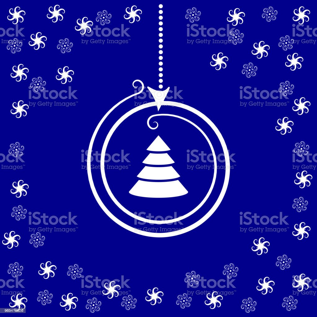 stylized Christmas ball and stars on dark blue background royalty-free stylized christmas ball and stars on dark blue background stock vector art & more images of abstract