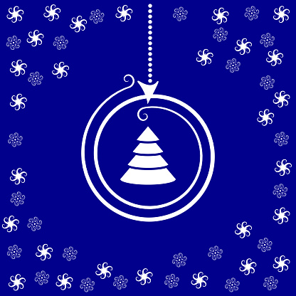 양식된 크리스마스 공와 어두운 파란색 바탕에 별 0명에 대한 스톡 벡터 아트 및 기타 이미지