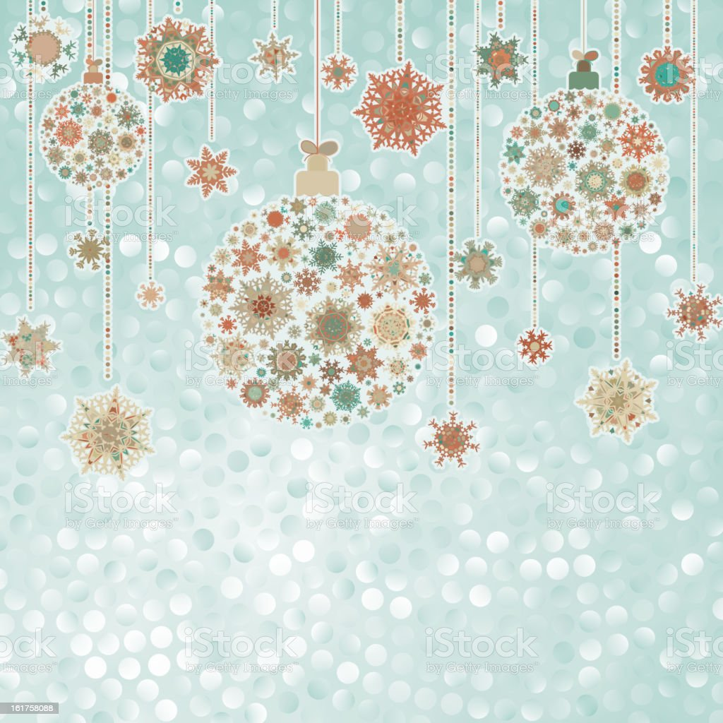 Stylized Christmas balls, on elegant. EPS 8 royalty-free stock vector art