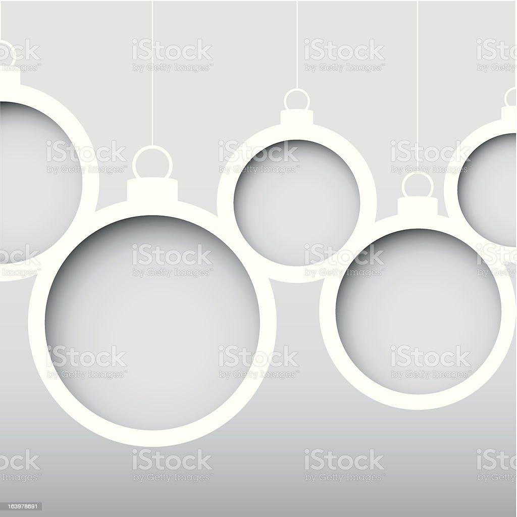 Stylized Christmas Balls royalty-free stock vector art