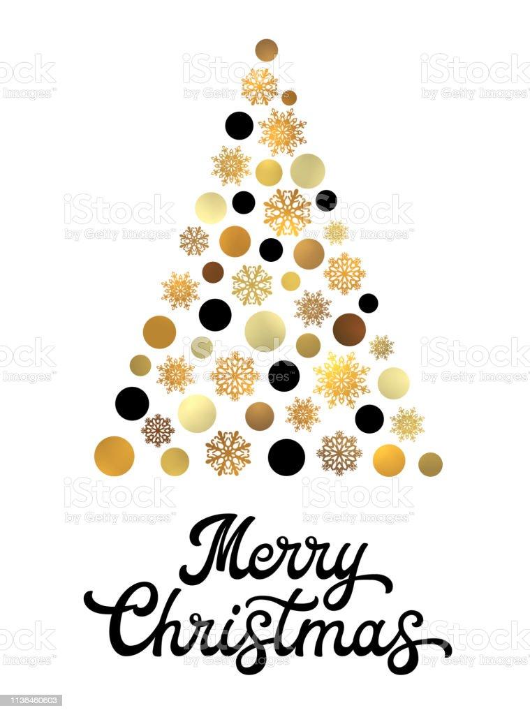 Stylische Weihnachtskarten.Stilisierter Weihnachtsbaum Isoliert Auf Weißem Hintergrund Mit