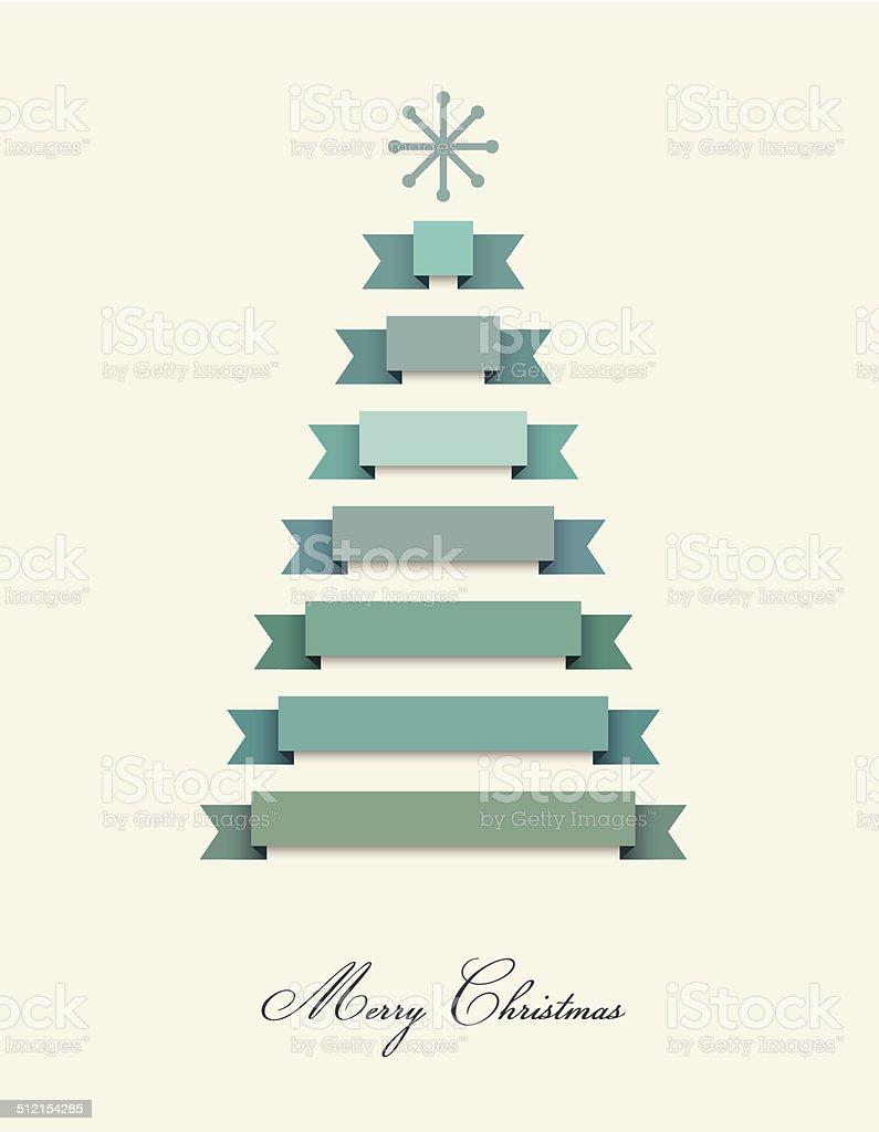 Immagini Natalizie Stilizzate.Stilizzato Albero Di Natale Nastri E Decorazione Vettore Sfondo