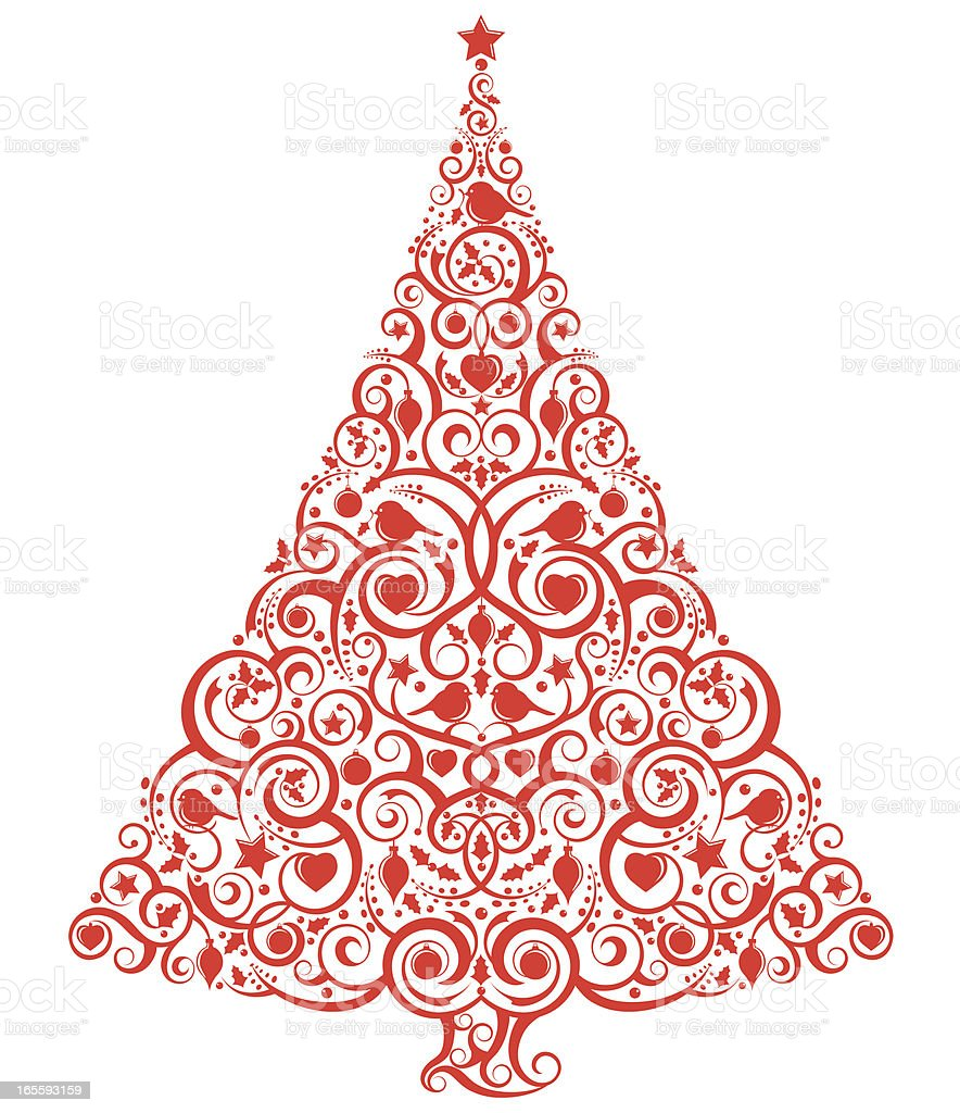 Stylized christmas tree stock vector art more images of