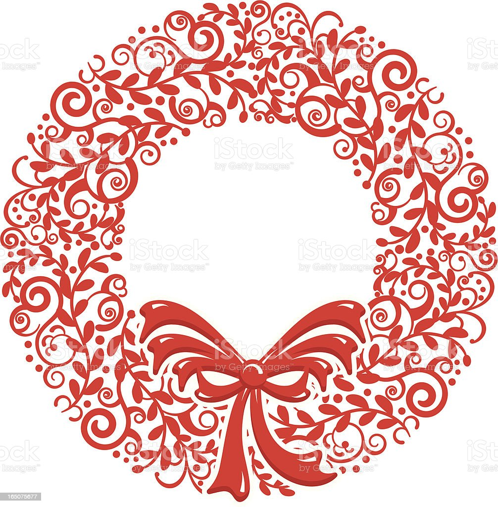 Stylized Christmas Wreath royalty-free stock vector art